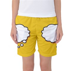 Comic Book Think Women s Basketball Shorts