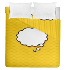 Comic Book Think Duvet Cover (full/queen Size)