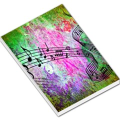 Abstract Music  Large Memo Pads