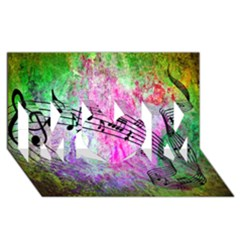 Abstract Music  Mom 3d Greeting Card (8x4)