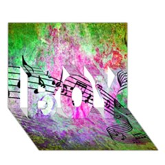 Abstract Music  BOY 3D Greeting Card (7x5)