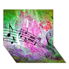 Abstract Music  Apple 3d Greeting Card (7x5)
