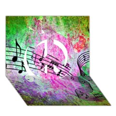 Abstract Music  Peace Sign 3D Greeting Card (7x5)
