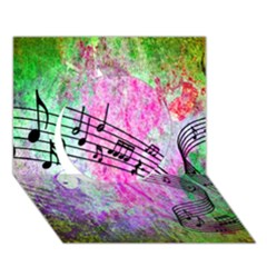 Abstract Music  Circle 3D Greeting Card (7x5)