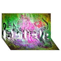 Abstract Music  Believe 3d Greeting Card (8x4)