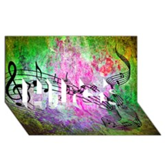 Abstract Music  HUGS 3D Greeting Card (8x4)