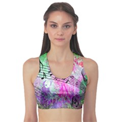 Abstract Music  Sports Bra