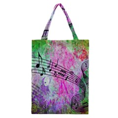 Abstract Music  Classic Tote Bags