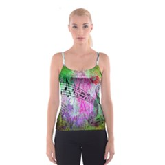 Abstract Music  Spaghetti Strap Tops