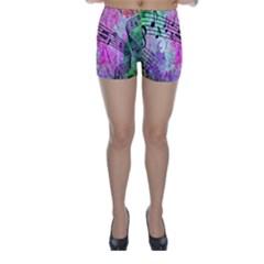 Abstract Music  Skinny Shorts