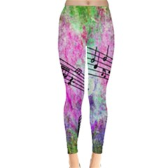 Abstract Music  Winter Leggings