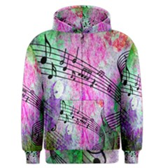 Abstract Music  Men s Zipper Hoodies