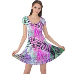 Abstract Music  Cap Sleeve Dresses