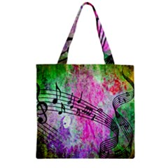 Abstract Music  Zipper Grocery Tote Bags