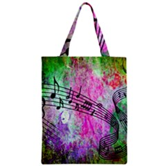 Abstract Music  Zipper Classic Tote Bags