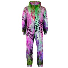 Abstract Music  Hooded Jumpsuit (men)