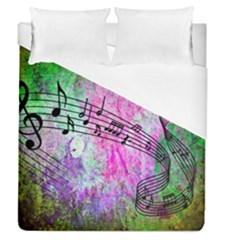 Abstract Music  Duvet Cover Single Side (full/queen Size)