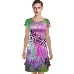 Abstract Music  Cap Sleeve Nightdresses