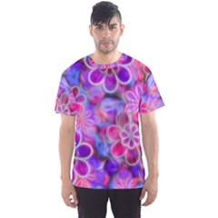 Pretty Floral Painting Men s Sport Mesh Tees