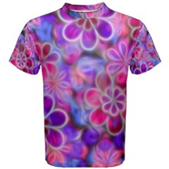 Pretty Floral Painting Men s Cotton Tees