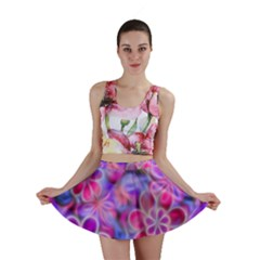 Pretty Floral Painting Mini Skirts