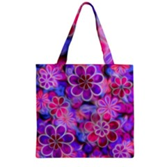 Pretty Floral Painting Grocery Tote Bags