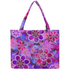 Pretty Floral Painting Tiny Tote Bags