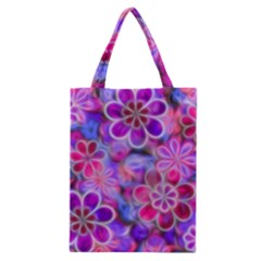 Pretty Floral Painting Classic Tote Bags