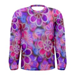 Pretty Floral Painting Men s Long Sleeve T Shirts