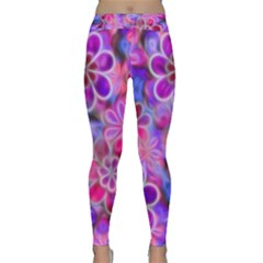 Pretty Floral Painting Yoga Leggings