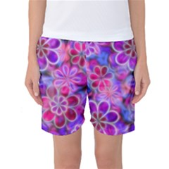 Pretty Floral Painting Women s Basketball Shorts