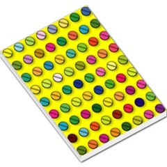 Multi Col Pills Pattern Large Memo Pads