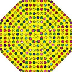 Multi Col Pills Pattern Hook Handle Umbrellas (Large)