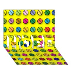 Multi Col Pills Pattern HOPE 3D Greeting Card (7x5)