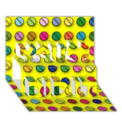 Multi Col Pills Pattern You Did It 3d Greeting Card (7x5)