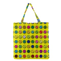 Multi Col Pills Pattern Grocery Tote Bags