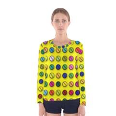 Multi Col Pills Pattern Women s Long Sleeve T-shirts