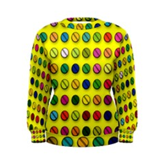 Multi Col Pills Pattern Women s Sweatshirts