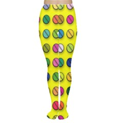 Multi Col Pills Pattern Women s Tights