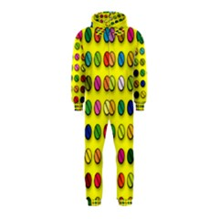 Multi Col Pills Pattern Hooded Jumpsuit (Kids)