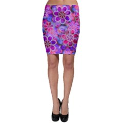 Pretty Floral Painting Bodycon Skirts