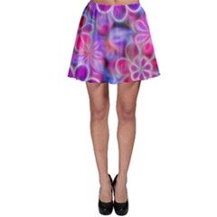 Pretty Floral Painting Skater Skirts
