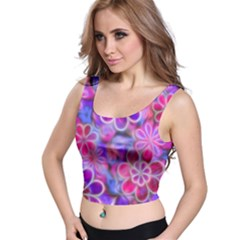 Pretty Floral Painting Crop Top