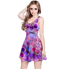 Pretty Floral Painting Reversible Sleeveless Dresses