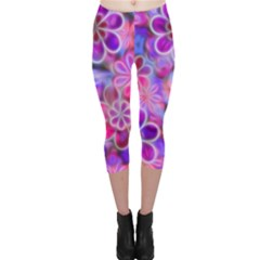 Pretty Floral Painting Capri Leggings