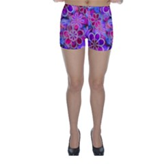 Pretty Floral Painting Skinny Shorts