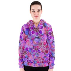 Pretty Floral Painting Women s Zipper Hoodies