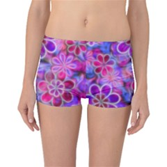 Pretty Floral Painting Boyleg Bikini Bottoms