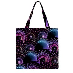 Stunning Sea Shells Zipper Grocery Tote Bags