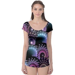 Stunning Sea Shells Short Sleeve Leotard